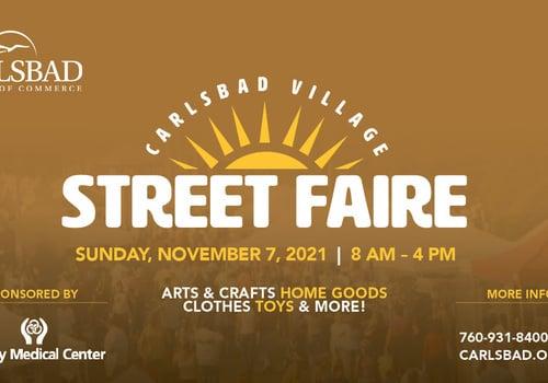 Carlsbad Village Street Faire Returns Sunday November 7th
