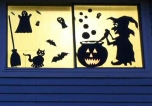 Halloween silhouette kids craft
