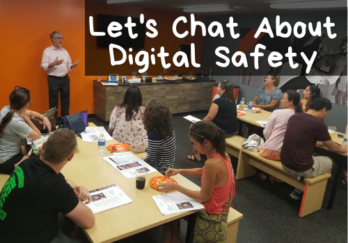 Stephen Balkam, founder of Family Online Safety Institute speaks to local parents about how to keep kids safe online.