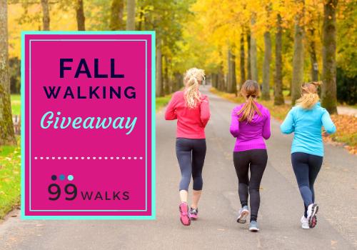 Fall walking giveaway 99 walks