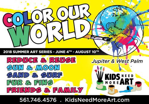 Kids Need More Art Summer Camp Flyer