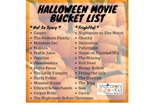 Halloween Movie Bucket List