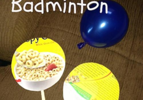 BALLOON BADMINTON kids can make and play
