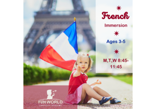 Child in front of Eiffel tower