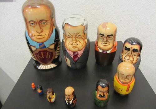 Matryoshka dolls depicting Russian leaders