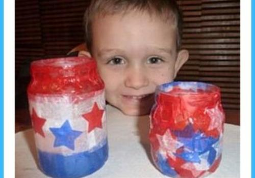 DIY 4th of July Candle Holders