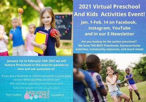 2021Virtual Preschool and Kids Activities Fair