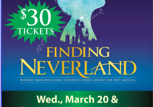 Finding Neverland discount promo code state theatre pa easton