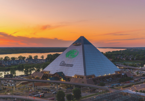 Memphis pyramid — big cypress lodge unique family travel