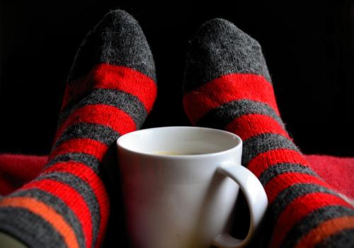 warm socks, hot coffee
