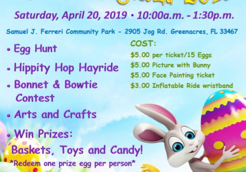 Eggstravaganza 2019 Flyer Greenacres egg hunt