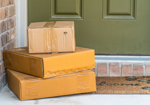 Packages on doorstep