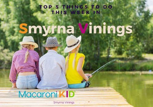 3 Children Fishing on Dock