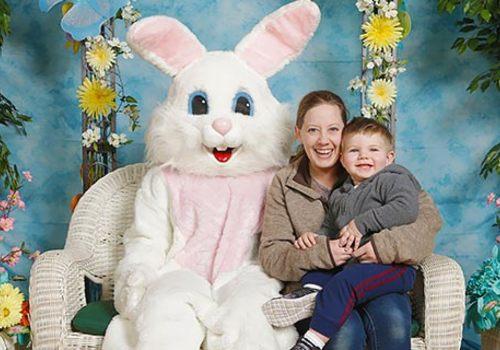dan's camera city easton bethlehem allentown Easter bunny photos family