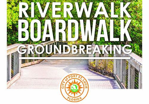City of PSL Riverwalk Boardwalk Groundbreaking