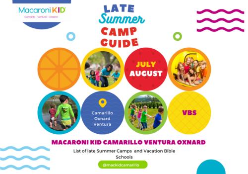 Camarillo Oxnard Ventura Summer Camp
