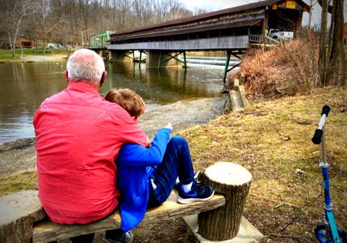 Covered bridge in Ohio