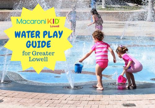 Kids playing at splash pad