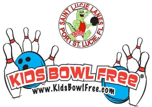 Kids Bowl Free at Saint Lucie Lanes