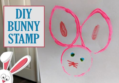 DIY bunny stamp