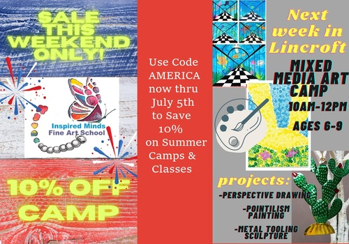 Inspired Minds Fine Art School July 2021 Sale with Code AMERICA through 7/5