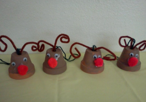 Rudolph Ornaments kids can make
