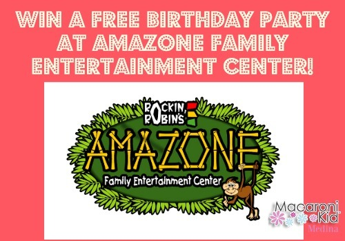 winners announced free birthday party at amazone macaroni kid medina