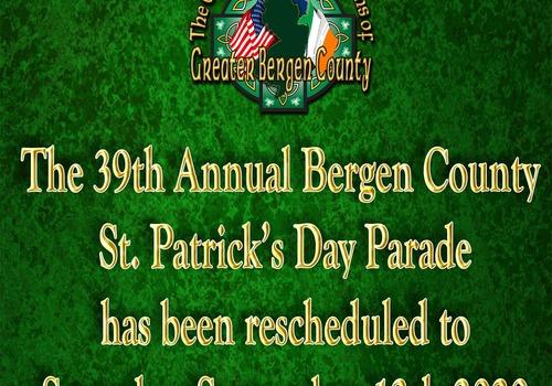 Bergen County St. Patrick's Day Parade rescheduled postponed September