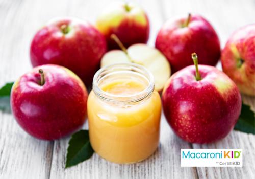 Applesauce in Glass Jar