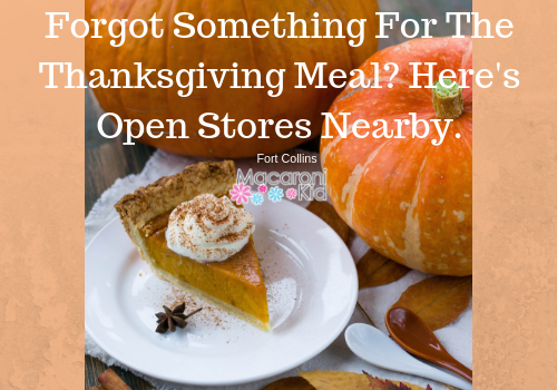 Forgot Something For The Thanksgiving Meal? Here's Open Stores Nearby.