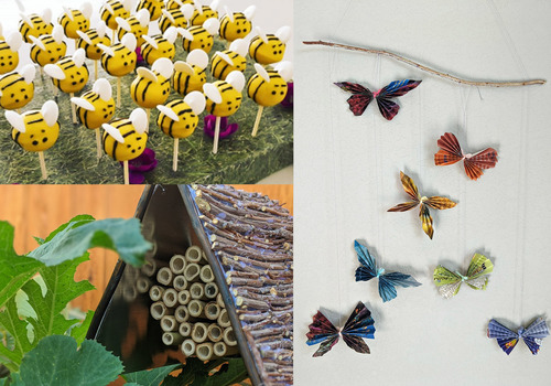 insects, bugs, pollinators, DIY projects, crafts, bees, butterflies