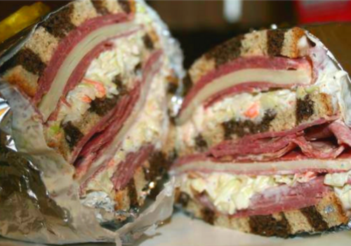 Triple Decker Corned Beef Sandwich St. Patricks Day