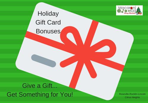 Holiday Gift Card Bonuses