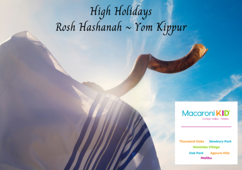Man blowing a shofar covered with a tallis High Holidays Rosh Hashanah ~ Yom Kippur by Stellalevi  from Getty Images Signature
