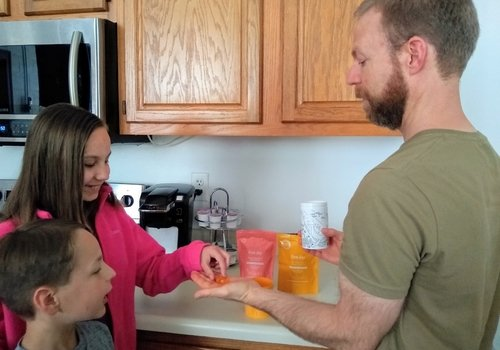 Family Trying First Day Vitamins