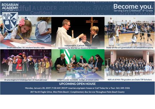 Rosarian Academy Open House