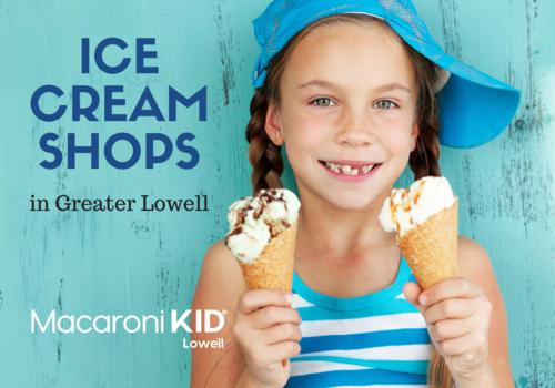 Girl holding ice cream cones