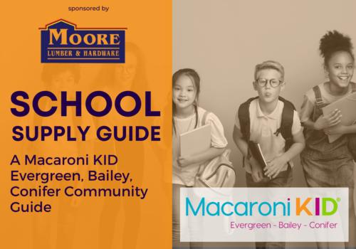 School Supply Guide, Macaroni Kid Evergreen, Sponsored by Moore Lumber & Hardware