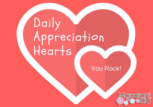 Daily Appreciation Hearts