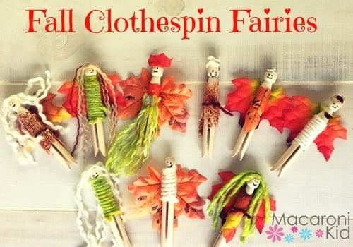 Fall Clothespin Fairies