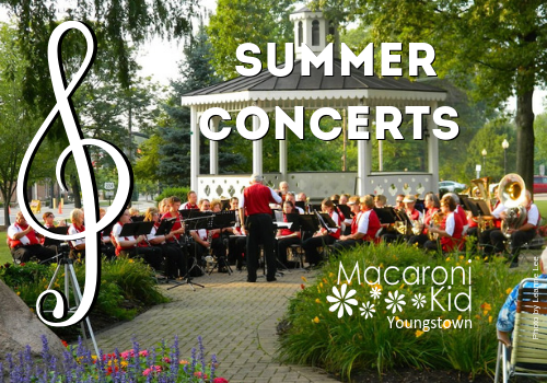 Where to find free outdoor summer concerts in the park in Youngstown
