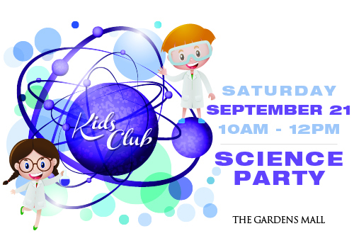 The Gardens Mall Science Center Kids Club Event