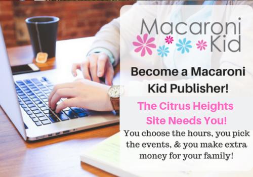 Citrus Heights Macaroni Kid site needs new publisher