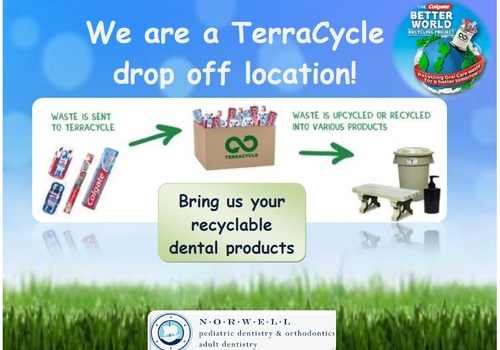 TerraCycle Recyling at Norwell Pediatric Dentistry in Norwell, MA