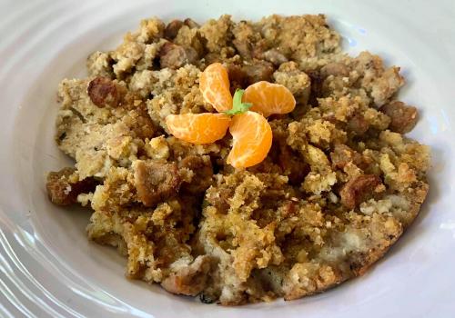 stuffing thanksgiving orange