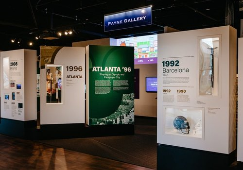 Image of the Payne Gallery set up in Olympics Exhibit