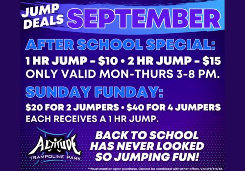 Jump Deals at Altitude Trampoline Park Concord