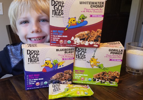 nut-free, gluten-free, organic snack bars from Don't Go Nuts