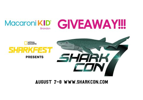 Macaroni Kid Brandon is giving away tickets to SharkCon 7 presented by National Geographic Sharkfest