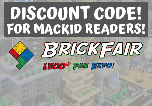 Discount coupon code to BrickFair LEGO Fan Expo coming to The BJCC in Birmingham, Alabama